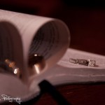 Wedding rings with Bible